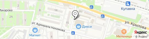 Киоск по продаже мороженого на карте Железнодорожного