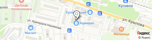 Магазин подарков на карте Железнодорожного