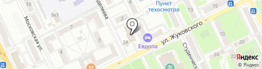 Жуковский индустриально-экономический техникум на карте Жуковского
