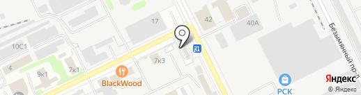 Кирпичный Дворик на карте Жуковского
