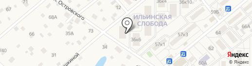 Ильинская Слобода на карте Ильинского