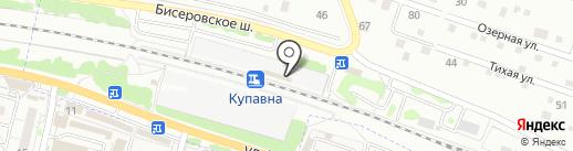 Купавна на карте Балашихи