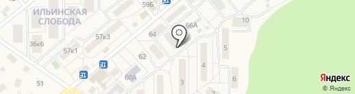 Детская школа искусств п. Ильинский на карте Ильинского