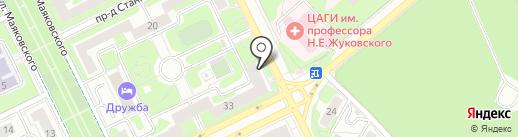 Платежный терминал, Московский кредитный банк, ПАО на карте Жуковского