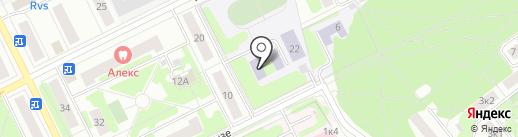 Средняя общеобразовательная школа №8 с углубленным изучением отдельных предметов на карте Жуковского