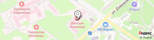 Детская городская больница на карте Жуковского