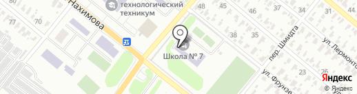 Харцызская общеобразовательная школа I-III ступеней №7 на карте Харцызска
