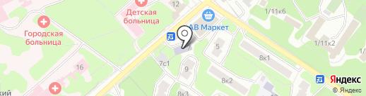 Акцент на карте Жуковского