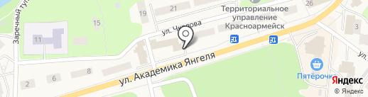 Вектор на карте Красноармейска