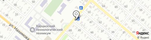 Шиномонтажная мастерская на ул. Некрасова на карте Харцызска