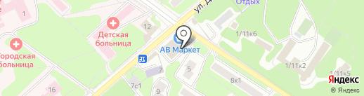 АВ Маркет на карте Жуковского