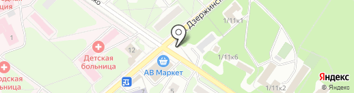 Прогтех, ЗАО на карте Жуковского