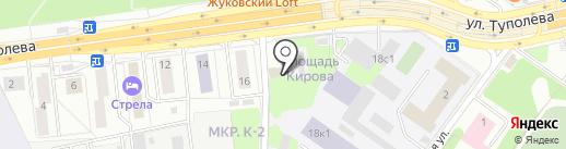 НИИ авиационного оборудования на карте Жуковского