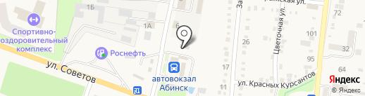 Абинскэлектросеть на карте Абинска