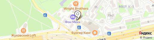 Мясницкий ряд на карте Жуковского