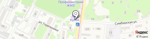 Кулон на карте Жуковского
