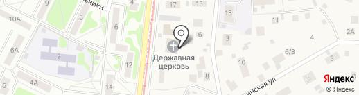Храм Державной Иконы Божией Матери на карте Кратово