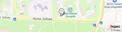 Лесной на карте Красноармейска