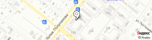 Киоск по ремонту обуви на карте Харцызска
