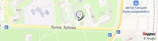 Детская библиотека на карте Красноармейска