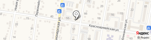 Участковый пункт полиции №1 на карте Абинска