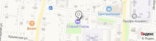 Старый город на карте Абинска