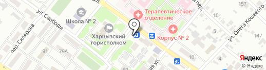 Українське село на карте Харцызска