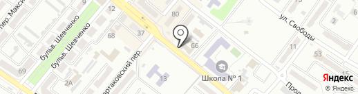 Памятники, магазин, СПД Дырдина А.И. на карте Харцызска