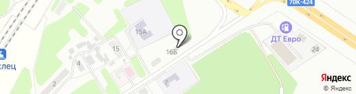 Маклец на карте Новомосковска