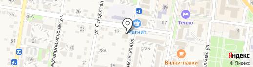 Продуктовый магазин на карте Абинска