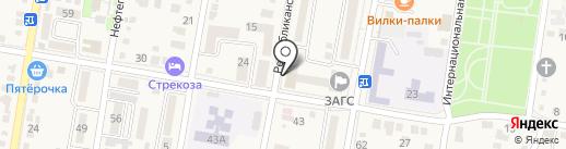 Мировые судьи Абинского района на карте Абинска