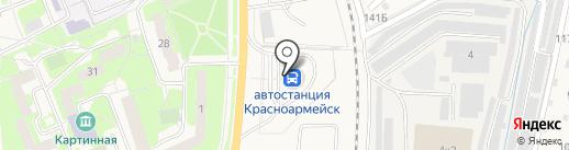 Красноармейск на карте Красноармейска