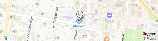 Банкомат, Газпромбанк на карте Абинска