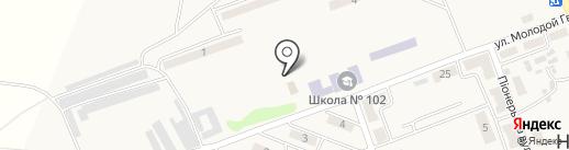 Нижняя Крынка, сауна на карте Нижней Крынки