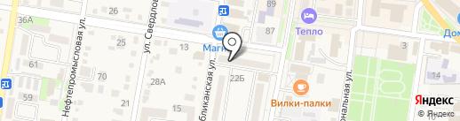 Аптека №59, МУП на карте Абинска