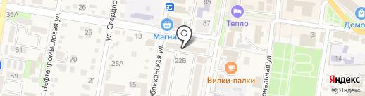 Банкомат, АКБ РОСБАНК на карте Абинска