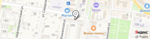 Банкомат, Росбанк, ПАО на карте Абинска