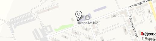 Макеевский учебно-воспитательный комплекс №102, Джерело на карте Нижней Крынки