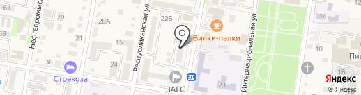 Управление социальной защиты населения министерства труда и социального развития Краснодарского края в Абинском районе на карте Абинска