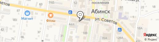 Почта банк, ПАО на карте Абинска