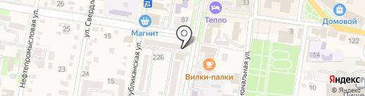 Островок Казахстана на карте Абинска