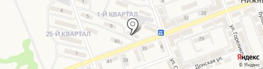Глобус на карте Нижней Крынки