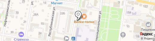 Канцберри на карте Абинска