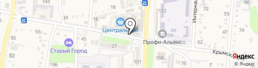 Магазин кондитерских изделий на карте Абинска