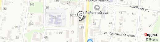 Банкомат, Крайинвестбанк на карте Абинска