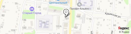 Ермолинские полуфабрикаты на карте Абинска