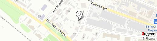 Зиг-Заг на карте Харцызска