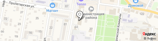 Сити-клуб на карте Абинска