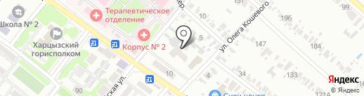 Первомайская на карте Харцызска