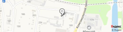 Абинская швейная фабрика на карте Абинска